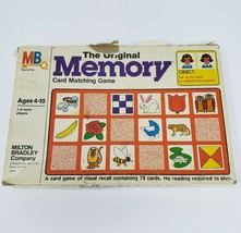 Vintage 1980 Memory Original Matching Card Game In Box Almost Complete 68 / 72 - $44.88