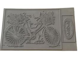 Flower Soft Country Bike Unmounted Rubber Stamps, Set of 2 #0510002STCB image 2