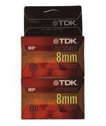Pk/2 x 3: Tdk 8mm Camcorder Tape (P6-120MPL2) - $10.89