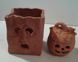Terra Cotta Lantern Luminarias Pumpkin Halloween Fall Decoration New Old... - $40.00