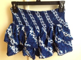 Victoria Secret NEW Blue and White Floral Tie Dye Multi Layer Skirt S NW... - $25.07