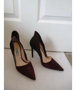 PRADA Suede Amaranto & Black High Heel Stiletto Pumps w/ High Back - Siz... - $359.99