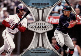 2019 Topps Greatness Returns #GR-13 Roberto Alomar/Francisco Lindor NM-M... - $4.99