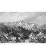 ITALY Olevano - 1864 Fine Quality Print Engraving - $49.50