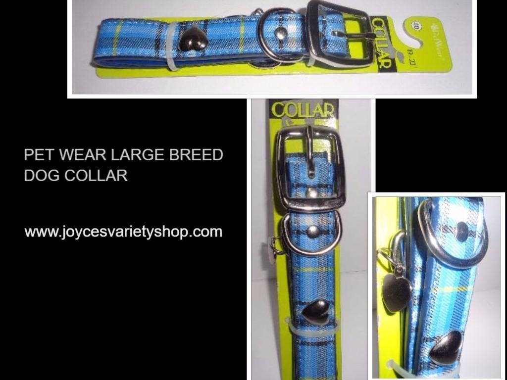 Pet wear large breed plaid dog collar collage 2017 04 23