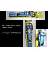 "Pet Wear Dog Collar Blue Plaid NWT 19-22"" Large Breed - $9.99"