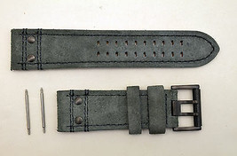 Luminox watch band 1880 Atacama Field Suede leather 26mm Grey strap 2pin... - $66.95