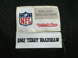 TERRY BRADSHAW / NFL HALL OF FAME / AUTOGRAPHED STEELERS THROWBACK JERSEY / COA image 8