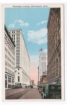 Marquette Avenue Cars Minneapolis MN 1920s postcard - $4.46