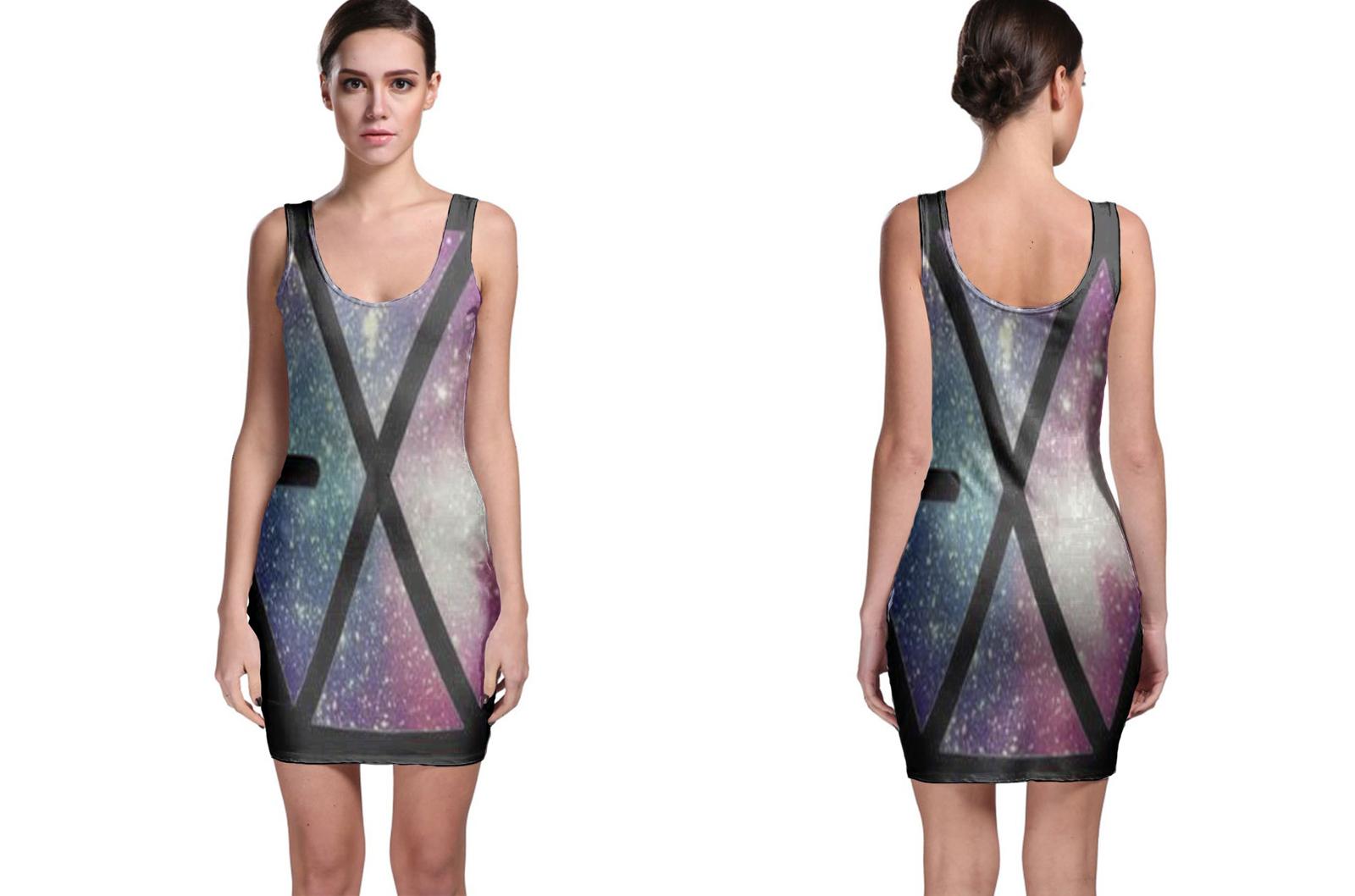 Exo Logo Space Bodycon Dress