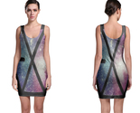 Exo logo space bodycon dress thumb155 crop