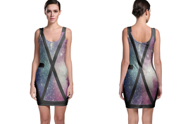 Exo Logo Space Bodycon Dress - $20.90+