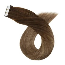 Ugeat 22 Inch Thick Full Head Tape in Hair Extensions Ombre Human Hair Extension