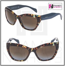 PRADA Poeme Cat Eye PR02QS Blue RED FANTASY Havana Gradient Sunglasses 0... - $252.45