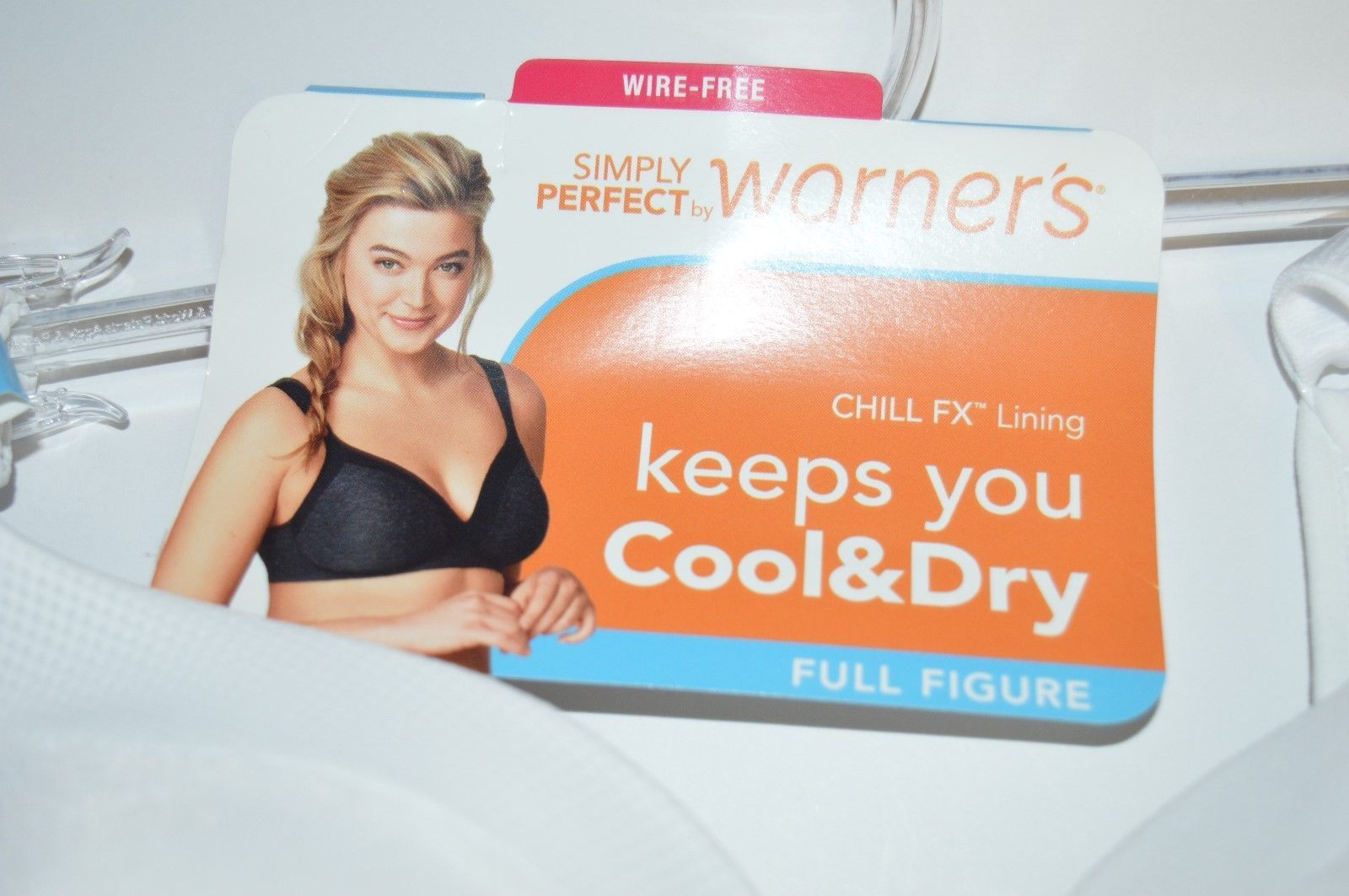 25262d8eb0d51 Simply Perfect by Warner s Women s Full Figure Cooling Wire-Free Bra White  44C