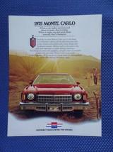1975 Chevrolet Monte Carlo Color Sales Brochure - Original New Old Stock - $9.50