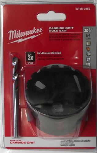"Primary image for Milwaukee 49-56-0456 2-1/2"" Carbide Grit Hole Saw With Bit"