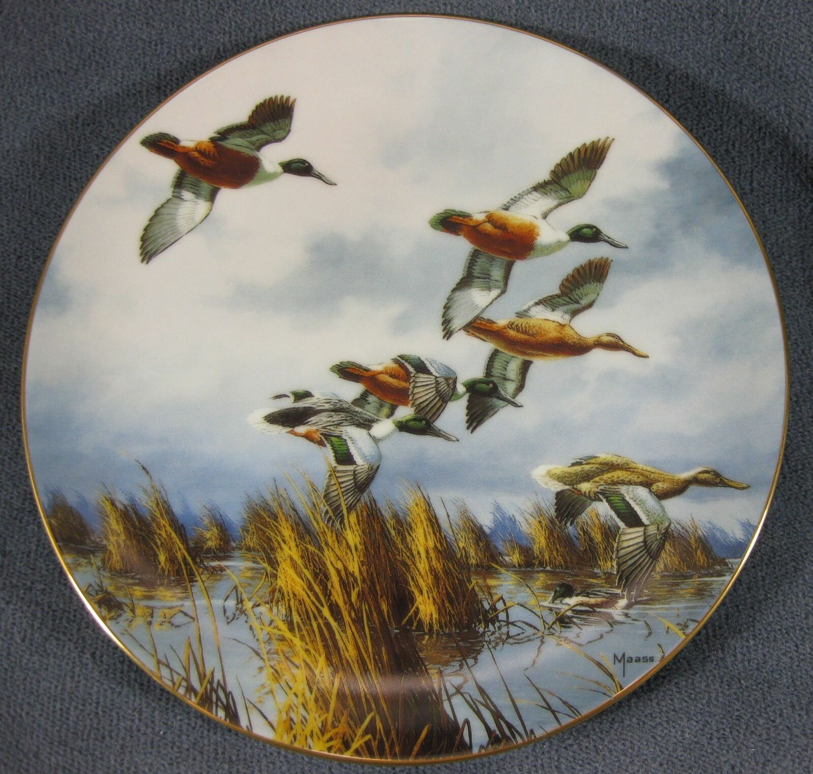 Primary image for Late Comers Collector Plate by David Maass On The Wing 1992 Ducks