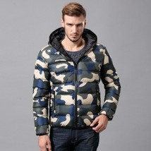 2018 Men's Fashion Camouflage Mens Cotton Padded Clothes Winter Jacket - $44.88