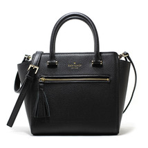 NEW KATE SPADE (WKRU4322) CHESTER STREET SMALL ALLYN BLACK LEATHER SATCH... - £99.59 GBP