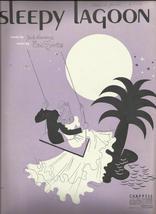 1940 Sleepy Lagoon Ukulele Guitar Banjo Vocal Antique & Vintage Sheet Music - $7.95