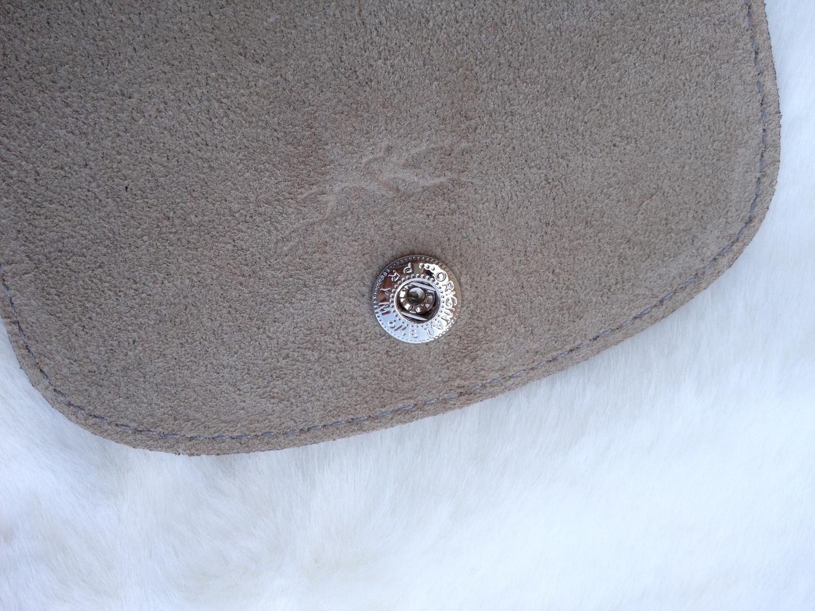 Longchamp Le Pliage Medium Grey Handbag Neo Shoulder Strap Pebble 1512578274