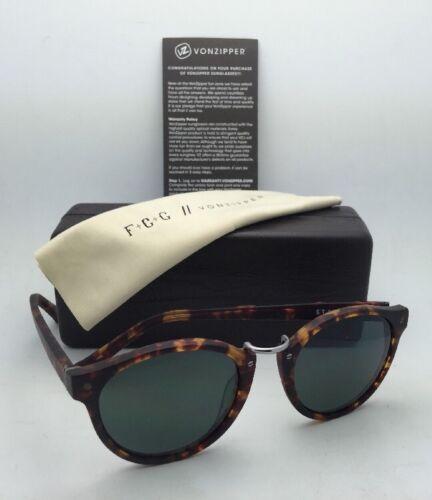F.C.G. VONZIPPER Sunglasses VZ STAX Tortoise & Pewter Frame w/ Grey-Green Lenses image 10