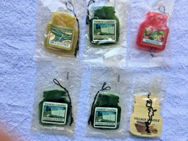 6 YANKEE CANDLE  SMALL CAR AIR Fresheners, sealed and new. Fast USA Ship... - $9.99