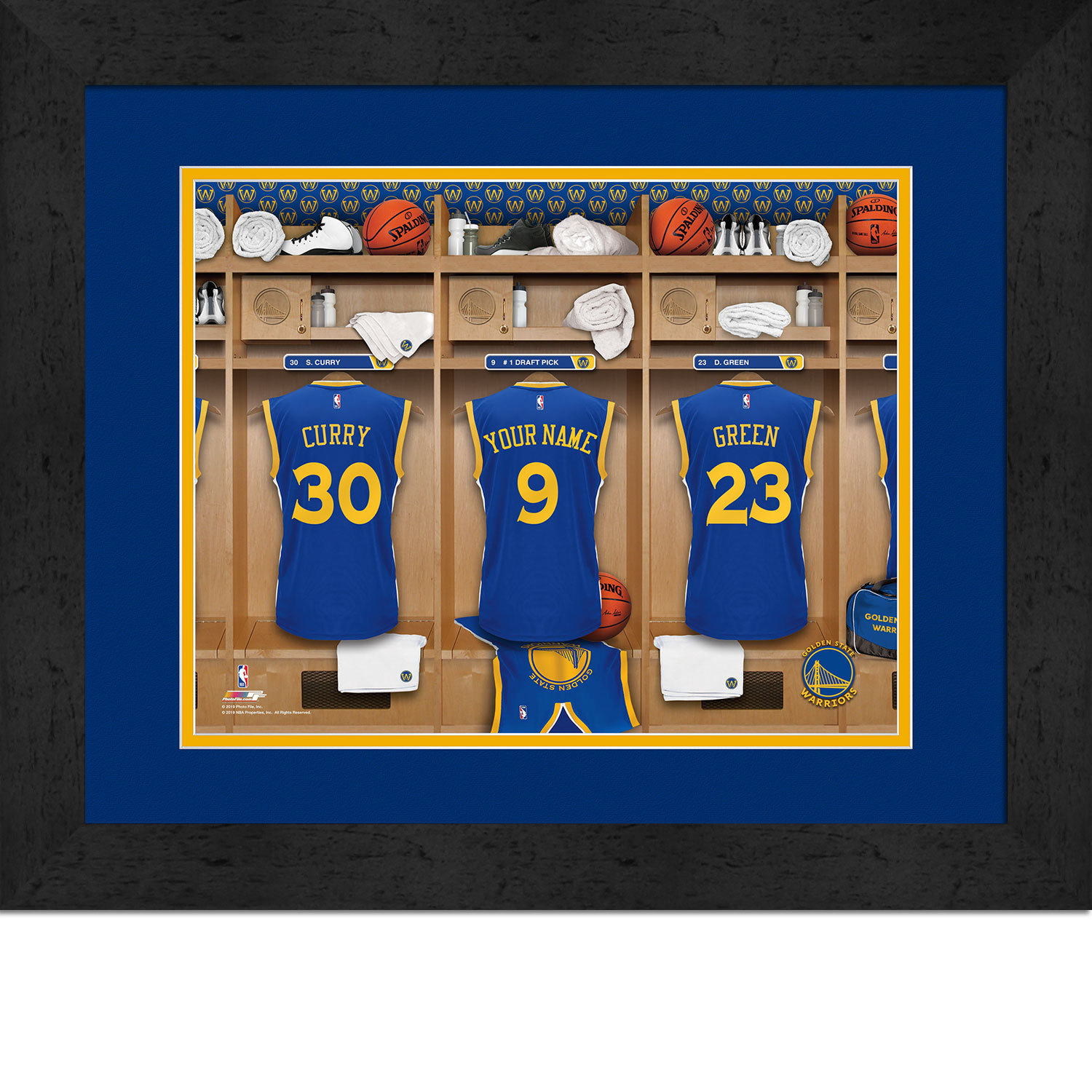 Primary image for Personalized Golden State Warriors 12 x 16 Locker Room Framed Print