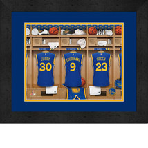 Personalized Golden State Warriors 12 x 16 Locker Room Framed Print - $63.95