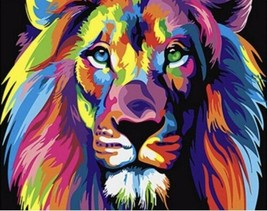 USA - DIY Paint by Number Kit Acrylic Painting Home Decor - The Lion - $18.80