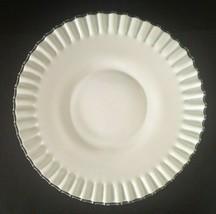 Vintage Fenton Silver Crest Ruffled Edge Serving Platter White Large 13... - $58.50
