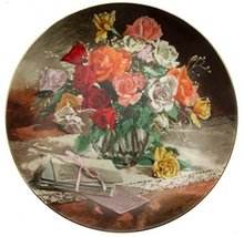 Bradford Exchange WS George Roses from Flowers of Your Garden Series by Vieonne  - $35.67