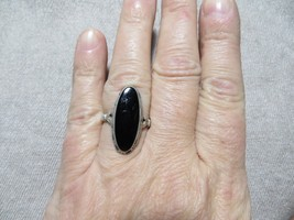 Art Deco 1920's Sterling Silver Marquise Onyx Stone Ring by Uncas Mfg.Co... - $39.99
