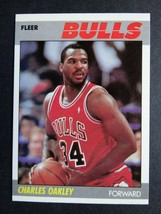 1987-88 Fleer #79 Charles Oakley Chicago Bulls Basketball Card - $1.50