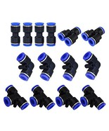 Metalwork Plastic 6mm OD Push To Connect Fittings Pneumatic Fittings Kit... - $16.91