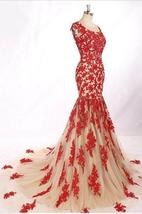 Sexy O-Neck Appliques Prom Dresses,Long Prom Dresses,Cheap Prom Dresses - $198.00