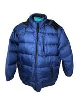 Vtg 90s Gap Reversible Down Filled Puffer Coat Jacket Blue Black Boys Size Large - $49.99