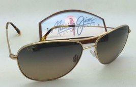 Polarized Maui Jim Sunglasses Cliff House Mj 247-16 Gold Frame w/HCL Bronze Lens - $299.95
