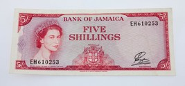 1960 Banco de Jamaica 5 Chelines Billete XF+ Estado Pick # 49 - $59.52
