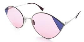 Fendi Sunglasses FF 0341/S AVBU1 60-22-140 Silver Pink / Pink Made in Italy - $196.00