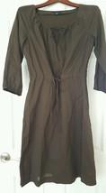 Tommy Hilfiger Women's Size 8 Boho Tie neck Tie waist Long Dress Brown P... - $14.80