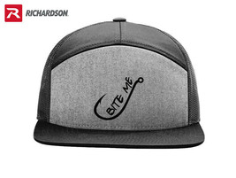 BITE ME FISHING FISHERMAN RICHARDSON FLAT BILL SNAPBACK HAT SHIPPING in ... - $19.99