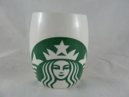 Starbucks Mug Mermaid 2010 Ceramic White Barrel Green Siren 14oz - $12.86