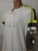INC Men's T-shirt with Colored stripes on sleeves  Color: White Size: XL - $14.84