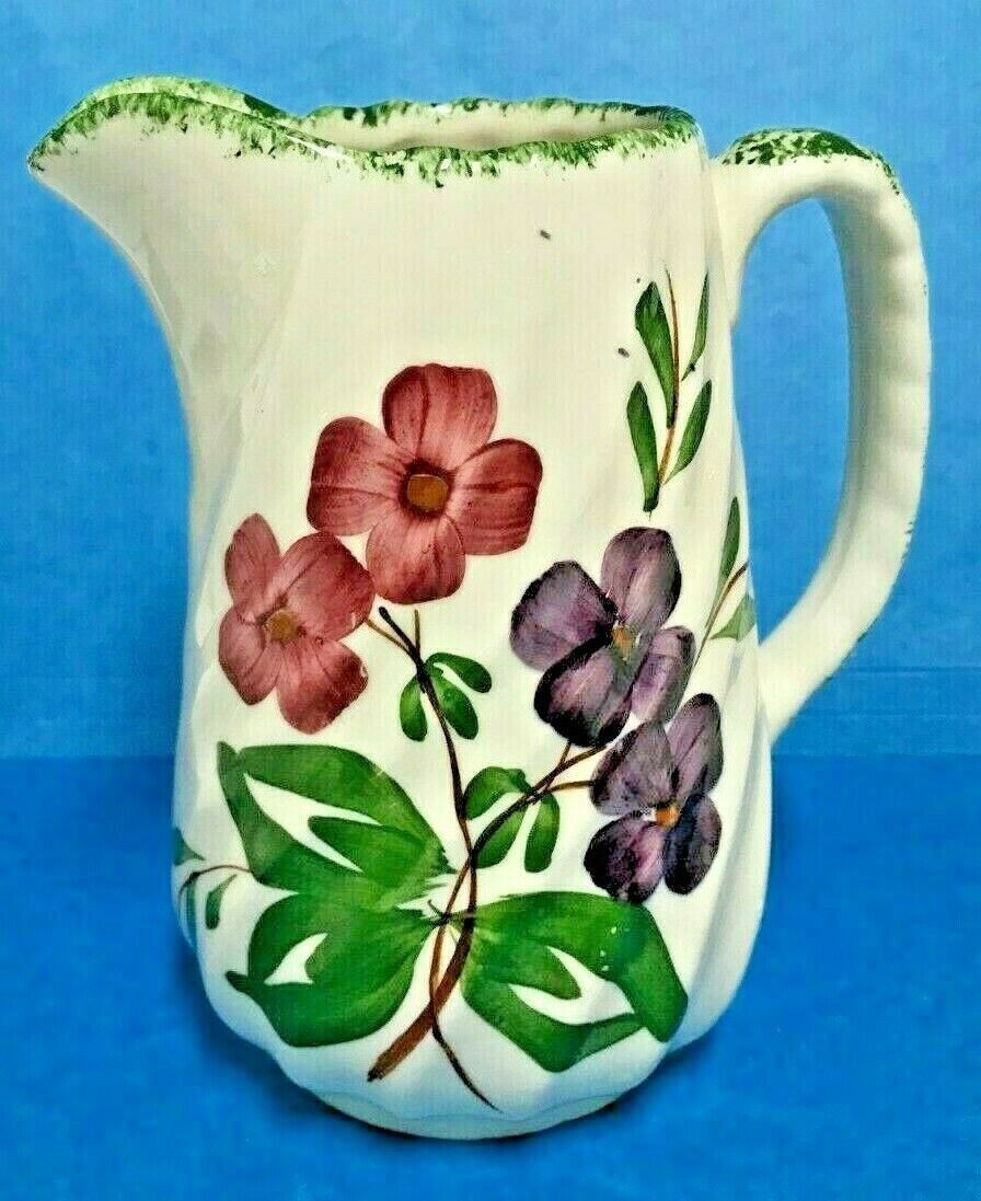 "Primary image for BLUE RIDGE SOUTHERN POTTERY- SPIRAL COLONIAL SERENADE  PITCHER  6 1/8"" TALL"