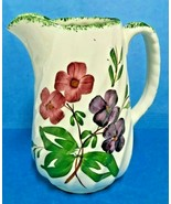"BLUE RIDGE SOUTHERN POTTERY- SPIRAL COLONIAL SERENADE  PITCHER  6 1/8"" TALL - $34.95"