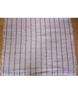 "Light Tan Woven Rag Rug Hand Loomed 57"" x 27.5"" New USA Made Machine Wash - $56.43"