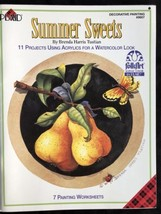 Decorative Painting Booklet Summer Sweets 11 Projects For Acrylics By PLAID - $13.10
