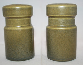 Vintage Wedgwood Sterling Salt and Pepper Shaker Set England Khaki AS-IS - $29.08